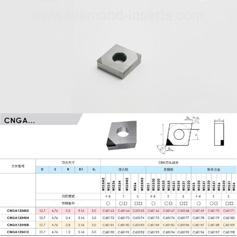 Slugger CNGA PCD Cutting Tool Inserts