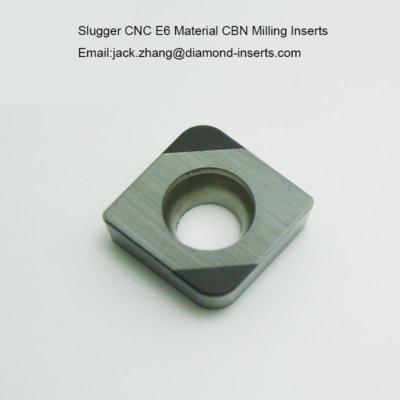 Slugger CNC E6 Material CBN Milling Inserts