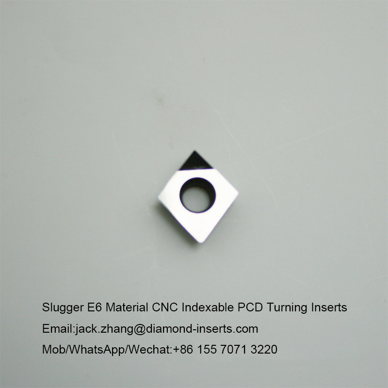 Slugger E6 Material CNC Indexable PCD Turning Inserts