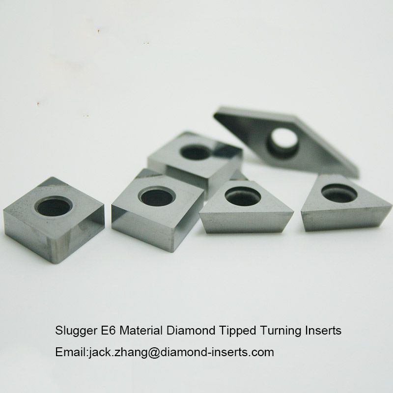 Slugger E6 Material Diamond Tipped Turning Inserts