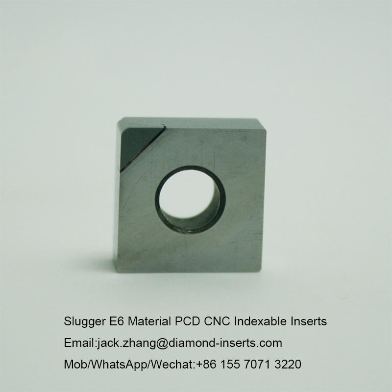 Slugger E6 Material PCD CNC Indexable Inserts