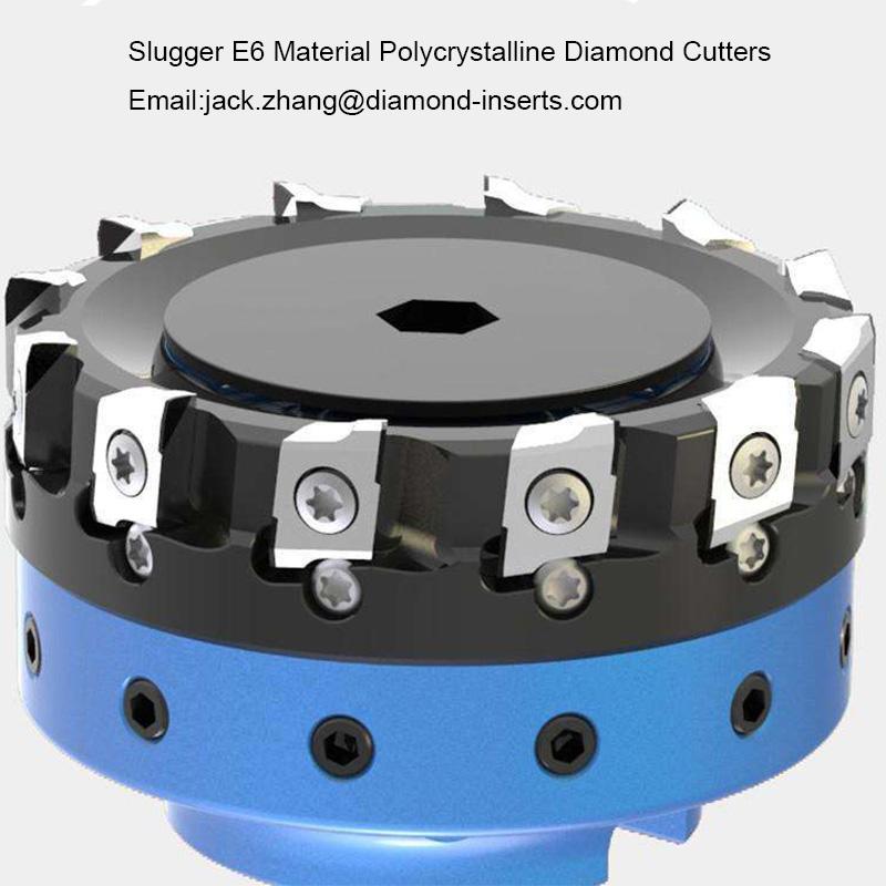 Slugger E6 Material Polycrystalline Diamond Cutters