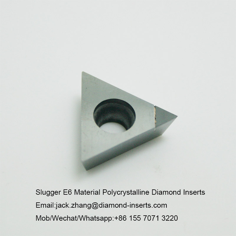 Slugger E6 Material Polycrystalline Diamond Inserts