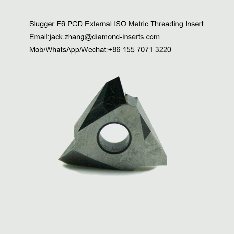 Slugger E6 PCD External ISO Metric Threading Insert