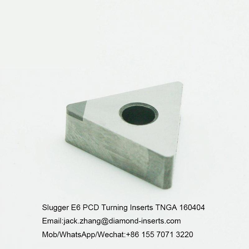 Slugger E6 PCD Turning Inserts TNGA 160404