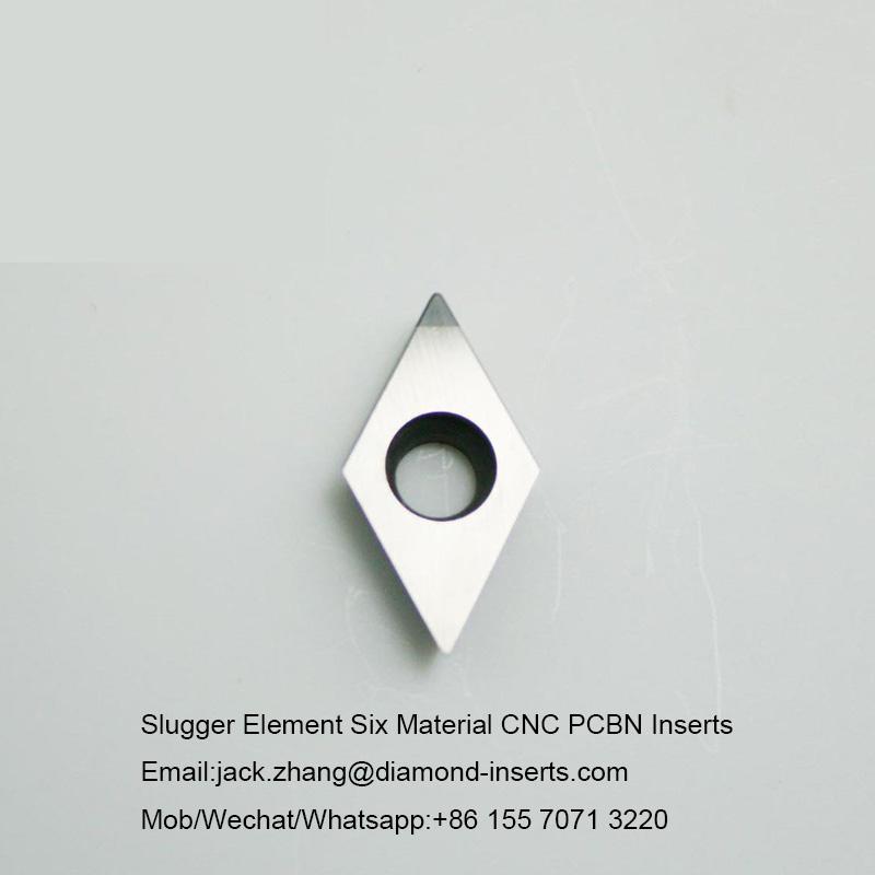 Slugger Element Six Material CNC PCBN Inserts
