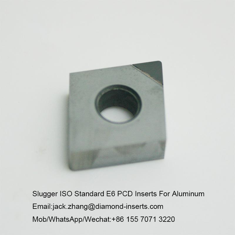 Slugger ISO Standard E6 PCD Inserts For Aluminum